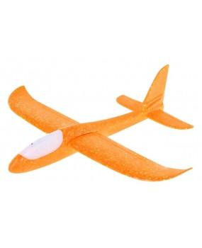 Polystyrénový model lietadla oranžový